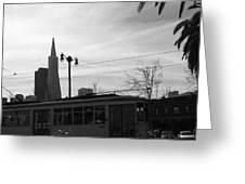 City Rail Greeting Card