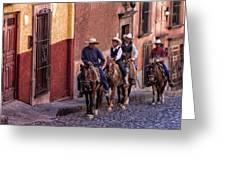 City Riding Greeting Card