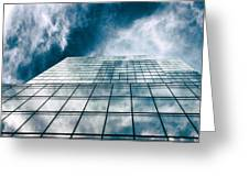 City Sky Light Greeting Card