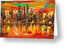 City Sky Greeting Card