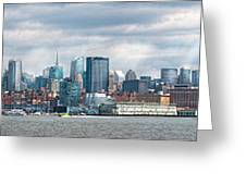 City - Skyline - Hoboken Nj - The Ever Changing Skyline Greeting Card