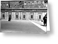 City Square Vintage Black And White  Greeting Card