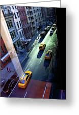 City Street Aerial New York Greeting Card