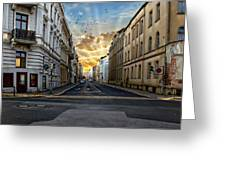 City Street View Greeting Card