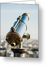 City Telescope Greeting Card