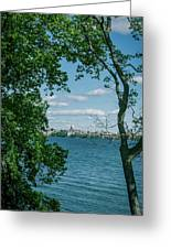City Through The Trees Greeting Card