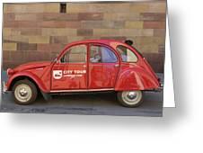 City Tour Car Strasbourg France Greeting Card