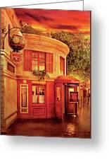 City - Vegas - Paris - Vins Detable Greeting Card by Mike Savad