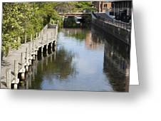 City Waterway Greeting Card