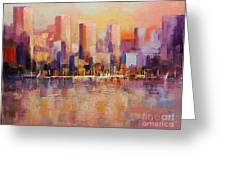 Cityscape 2 Greeting Card by Rosario Piazza