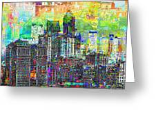 Cityscape Art City Optimist Greeting Card