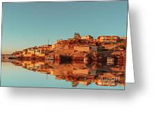 Cityscape For The Beautiful Nubian City Aswan In Egypt At The Golden Hour Of The Sunset Time. Greeting Card