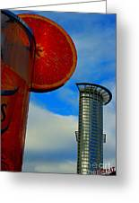 Cityscape Of Frankfurt. Greeting Card