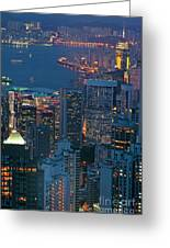 Cityscape From Victoria Peak Greeting Card