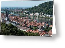 Cityscape  Of Heidelberg In Germany Greeting Card