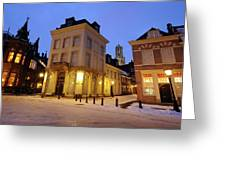 Cityscape Of Utrecht In The Evening At Pausdam 5 Greeting Card
