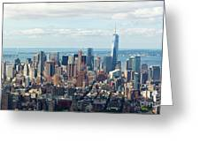 Cityscape View Of Manhattan, New York City. Greeting Card