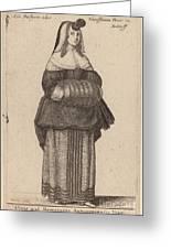 Ciuis Aut Mercatoris Antuerpiensis Vxor Greeting Card