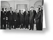 Civil Rights Leaders And President Kennedy 1963 Greeting Card