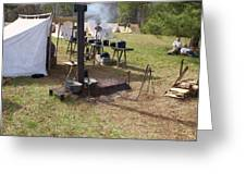 Civil War Camp Stove And Mess Greeting Card