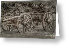 Civil War Cannon And Limber Greeting Card