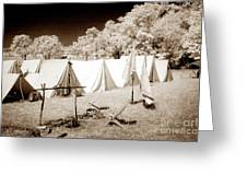 Civil War Encampment - Infrared Greeting Card