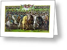 Civil War Generals And Statesman Greeting Card