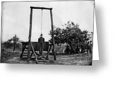 Civil War: Hanging, 1864 Greeting Card