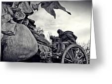 Civil War In Bronze Greeting Card
