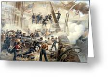 Civil War Naval Battle Greeting Card