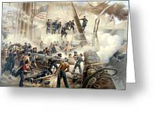 Civil War Naval Battle Greeting Card