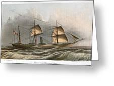 Civil War: Uss Kearsarge Greeting Card