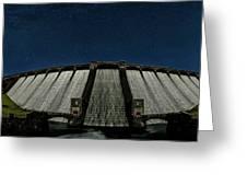 Claerwen Reservoir In Moonlight Greeting Card