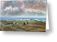Clam Diggers - Sold Greeting Card