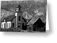 Clapboard Church 1898 Greeting Card