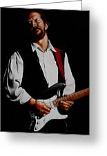 Clapton With Red Strap Greeting Card