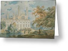 Clare Hall And Kings College Chapel, Cambridge  Greeting Card