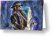 Clarence Clemons Greeting Card by Clara Sue Beym
