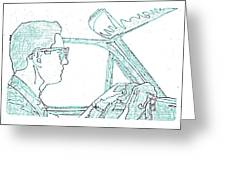 Clarence Driving Blue Greeting Card