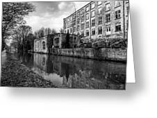 Clarence Mill, Bollington, England Greeting Card