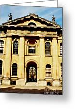 Clarendon Building, Broad Street, Oxford Greeting Card