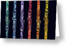 Clarinet Rainbow Greeting Card by Jenny Armitage
