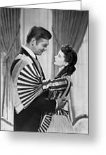 Clark Gable And Vivien Leigh Greeting Card