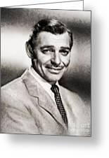 Clark Gable, Vintage Hollywood Actor By John Springfield Greeting Card