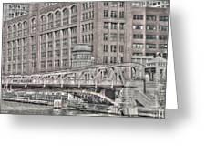 Clark Street Bridge Greeting Card