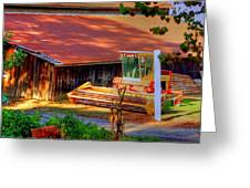 Clarkburg Combine Greeting Card by Randy Wehner Photography