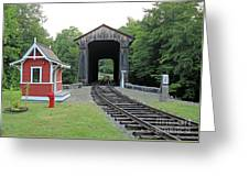 Clark's Bridge, Lincoln, N.h. Greeting Card