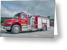 Clarks Chapel Fire Rescue - Engine 1351, North Carolina Greeting Card
