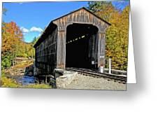 Clark's Trading Post Railroad Covered Bridge Greeting Card