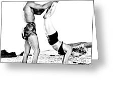 Clash By Night With Marilyn Monroe Greeting Card
